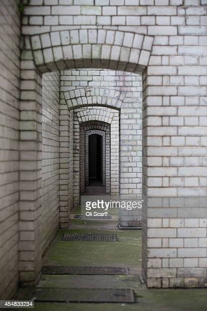 A passage known as 'Dead man's walk' which condemned men would pass along to their execution in the Central Criminal Court known as the 'Old Bailey'...