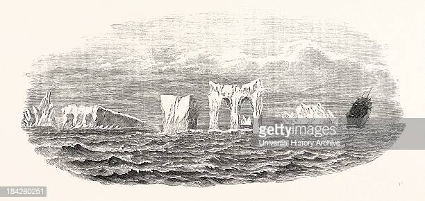Passage Of The Ship Medway Through Icebergs On Her Homeward Voyage From Melbourne 1854
