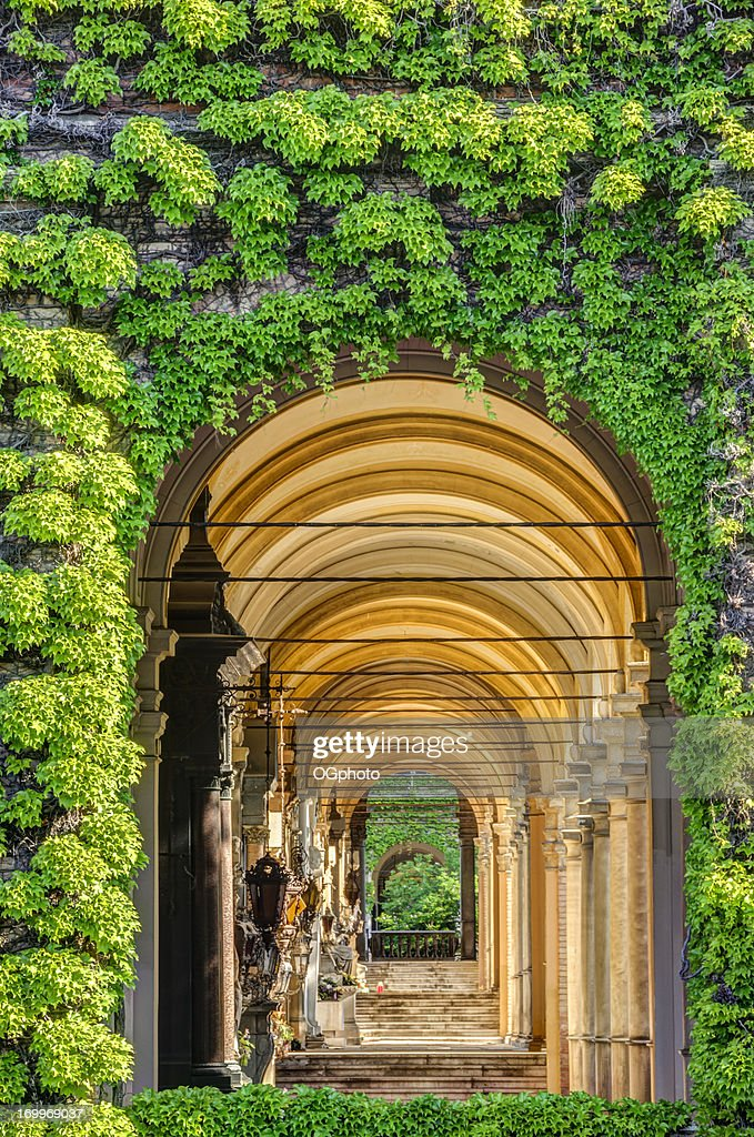 Passageway of stairs and arches. : Stock Photo