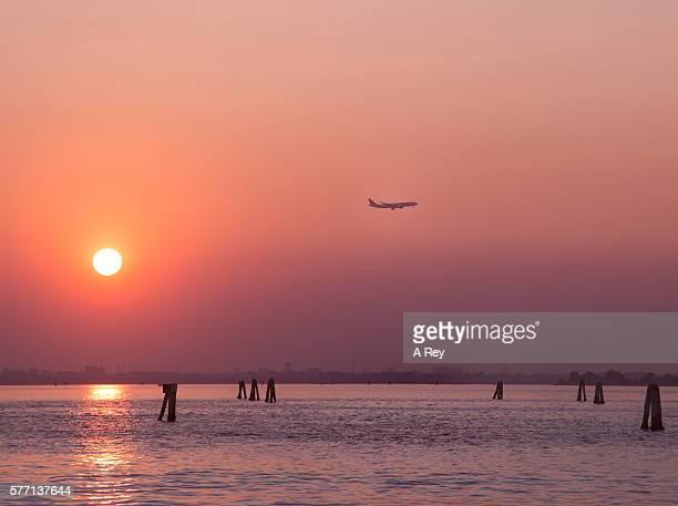 Passanger plane taking off