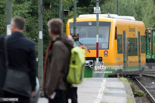A passanger train enters the train station in Furth im Wald Germany 26 July 2017 The railway connection between Bacaria and the Czech Republic shall...