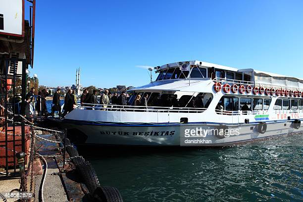 passangers boarding turyol ferry in istanbul - haydarpasa stock photos and pictures