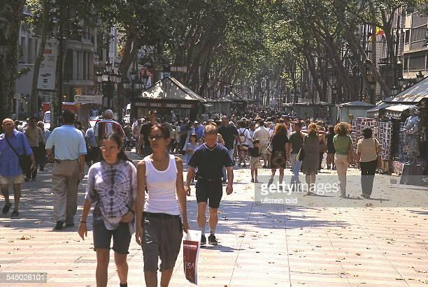 Passanten auf der Rambla 1999