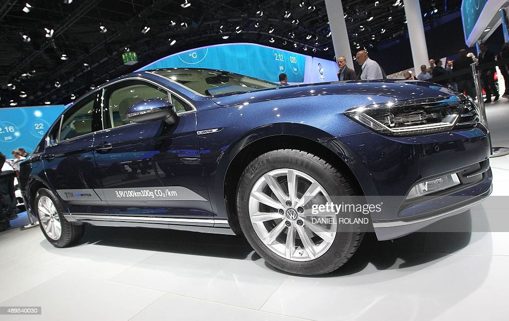 A Passat Tdi Blue Motion Car Of German Car Maker Volkswagen Has
