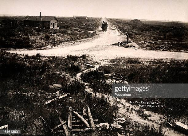 Passchendaele ridge near Ypres in Belgium photographed soon after the end of World War One circa March 1919 This image is from a series documenting...