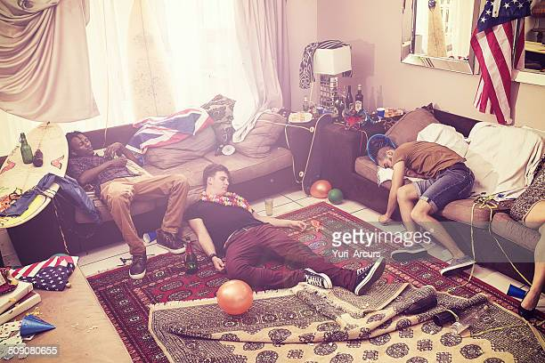 passed out after the party - binge drinking stock photos and pictures