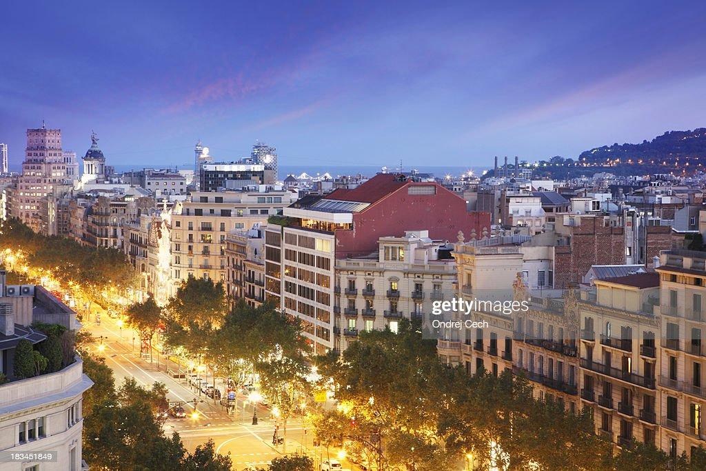 Passeig de Gracia Avenue in Barcelona : Stock Photo
