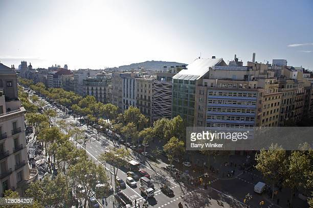 Passeig de Gracia, Barcelona, Catalonia, Spain, Main boulevard through city