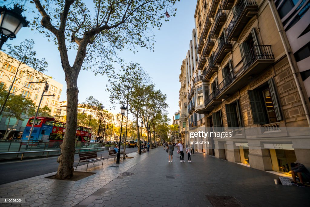 Passeig de Gracia, shopping street in Barcelona, Spain : Stock Photo