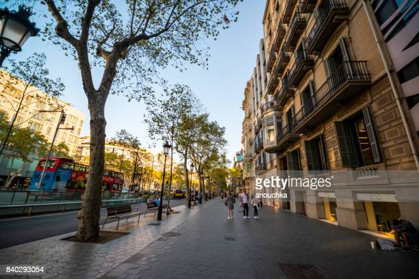 Passeig de Gracia, shopping street in Barcelona, Spain