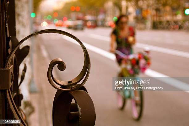 Passeig de Gràcia Biker Girl