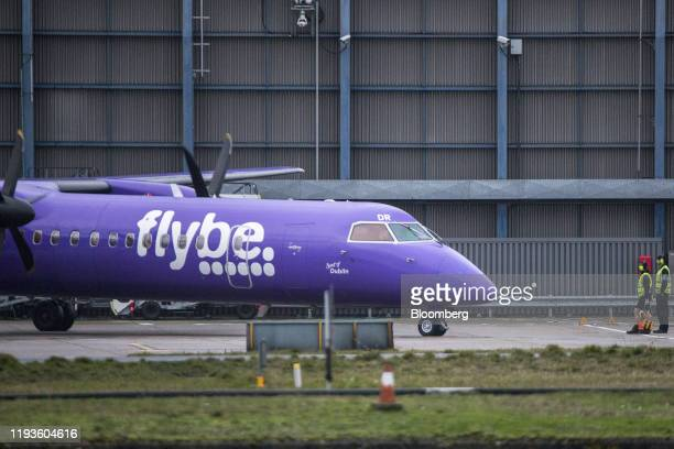 A passenger aircraft operated by Flybe Group Plc stands on the tarmac at London City Airport in London UK on Tuesday Jan 14 2020 UK regional...