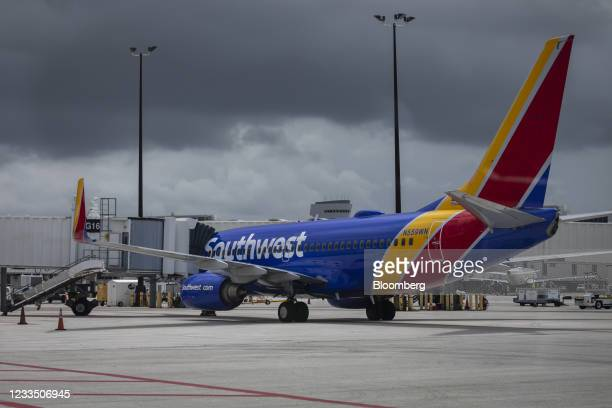 Passenger aircraft operated by Southwest Airlines Co. At Miami International Airport in Miami, Florida, U.S., on Wednesday, June 16, 2021. Daily U.S....