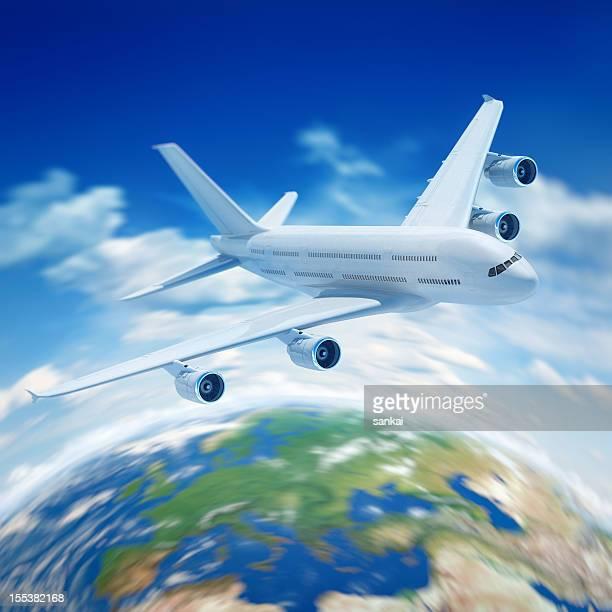 Passeggero aereo vola nel cloud