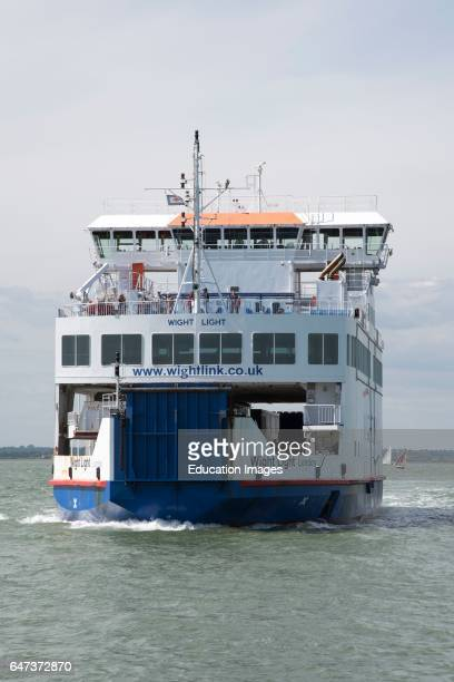 Passenger and vehicle ferry approaching Yarmouth on the Isle of Wight.