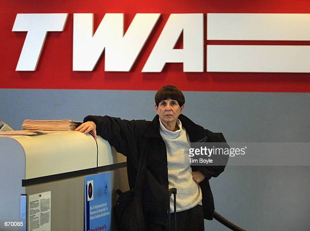 A passenger bound for St Louis MO waits at the Trans World Airlines gate for a ticket agent January 8 2001 at Chicago's O''Hare International Airport...