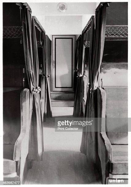 Passenger compartment of Zeppelin LZ 126 c1924 LZ126 was built for the US military as part of the war reparations Germany was compelled to pay after...