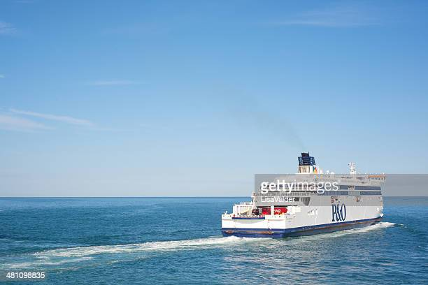 passenger ferry on the english channel - ferry stock photos and pictures
