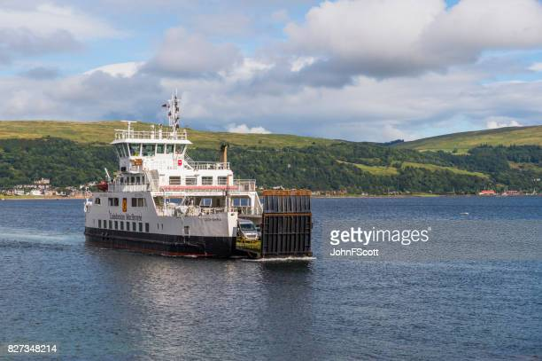 passenger ferry on the firth of clyde scotland - johnfscott stock pictures, royalty-free photos & images