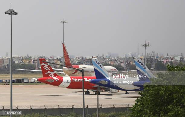Passenger flights parked at Indira Gandhi International airport used for the evacuations India has started a very large scale of air evacuation...
