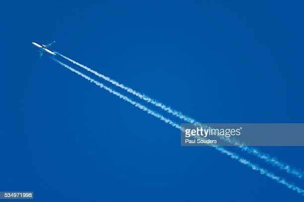 Passenger Jet in Flight, Acadia National Park, Maine
