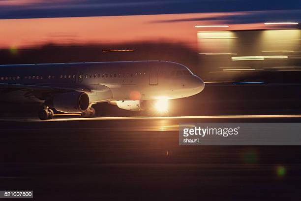 Passenger Jet in Motion