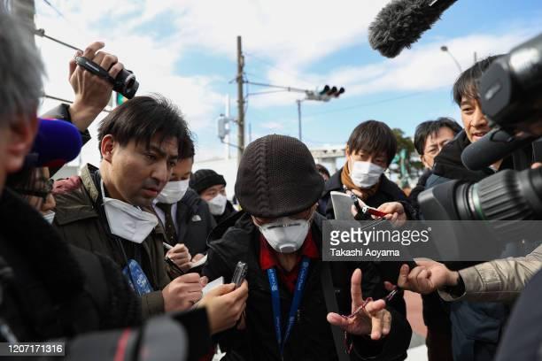 A passenger of Diamond Princess cruise ship leaves Daikoku Pier on February 19 2020 in Yokohama Japan About 500 passengers who have tested negative...