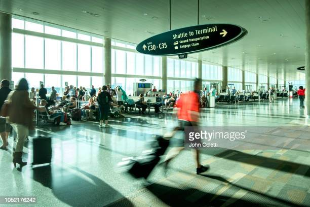 Passenger Rushing Through Airport Departure Terminal, Tampa International Airport