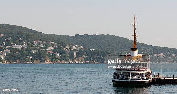 passenger ship in istanbul - ship funnel stock photos and pictures