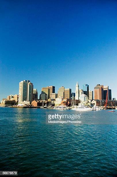 Passenger ships in the river, Boston Harbor