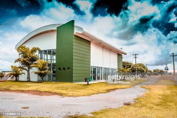 旅客ターミナル-グッドフューチャーエアポート (lvr/silc)-ルーカス・デ・リオ・ヴェルデ、マト・合奏、mt、ブラジル - クイアバ ストックフォトと画像