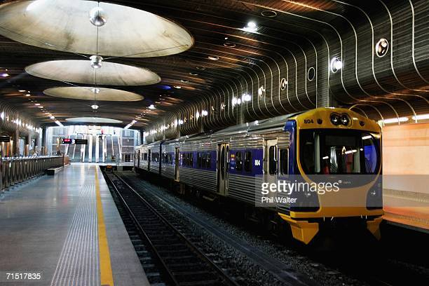 A passenger train is pictured at the Britomart Transport Centre July 26 2006 in Auckland New Zealand Toll NZ have announced that they are scrapping...