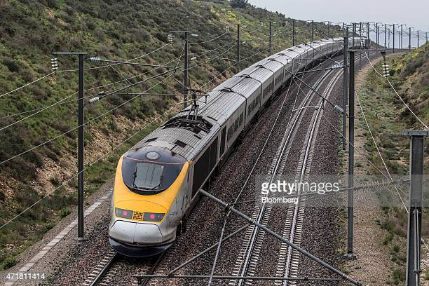 A passenger train operated by Eurostar International Ltd travels between Avignon and AixEnProvence as Eurostar launch a new railway service linking...