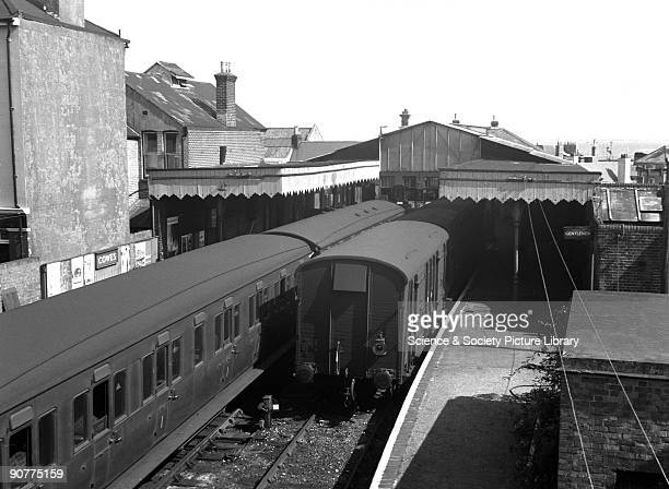 Passenger trains at Cowes station Isle of Wight by Selwyn PearceHiggins 1965 Steam traction was withdrawn on the Isle of Wight in 1966 At this time...