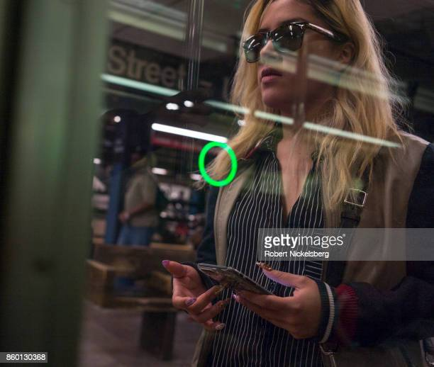 Passenger waits for doors to open on a subway car in New York City, New York, October 4, 2017. The New York subway averages 5.7 million daily rides.