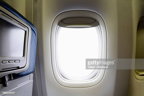 passenger window on an airplane