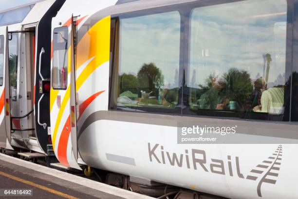Passengers aboard the Northern Explorer train in New Zealand