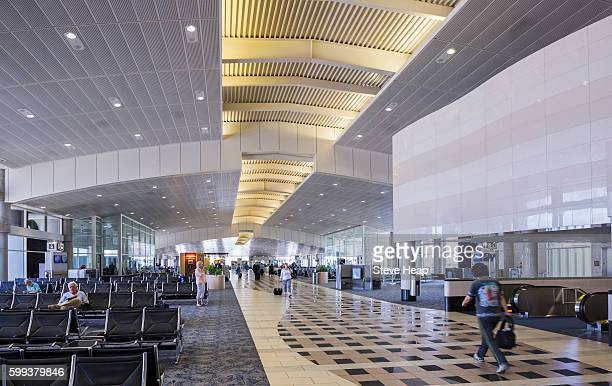 Passengers and travellers in the terminal at Tampa International Airport, Tampa, Florida, USA