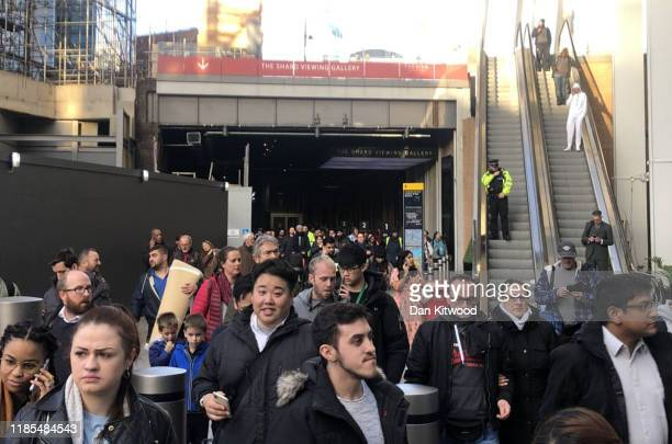 Passengers are evacuated following an incident on November 29 2019 in London England Police responded to an incident around 200 pm local time...