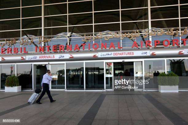 Passengers are seen at Arbil airport in the capital of Iraq's autonomous northern Kurdish region on September 29 2017 Iraq's government cut the...