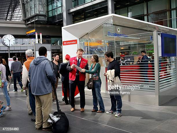 Passengers are seen at the Berlin Hauptbahnhof train station as German Train Drivers Union, or GDL train drivers began a week-long strike over an...