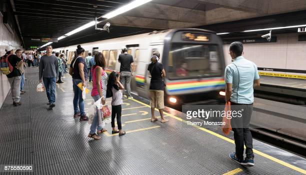 Passengers are using the metro of Caracas It was constructed and is operated by Compania Anonima Metro de Caracas a governmentowned company that was...