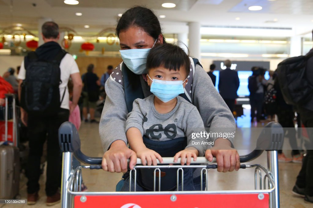 Passengers Arrive In Sydney After Chinese Authorities Shut Down Transport Networks Over Coronavirus : News Photo