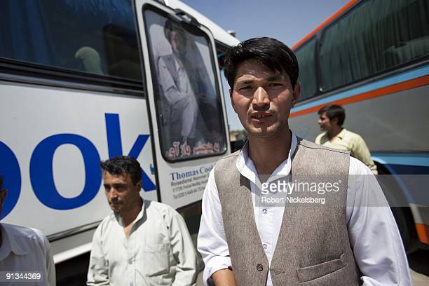 Passengers arrive in Kabul AfghanistanÕs Baraki bus terminal having traveled from the countryÕs northern provinces originating in MazariSharif August...