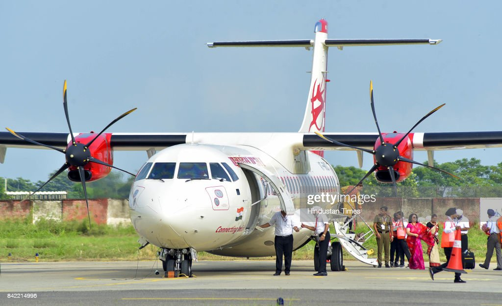 Passengers arrive to board LudhianaDelhi flight as part of the Union government's UDAN scheme on September 2 2017 in Ludhiana India The flight is.