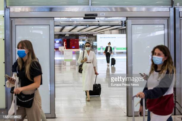 Passengers arriving at the facilities of Terminal T4 of the Adolfo Suarez Madrid-Barajas Airport, on 7 June, 2021 in Madrid, Spain. Spain allows from...