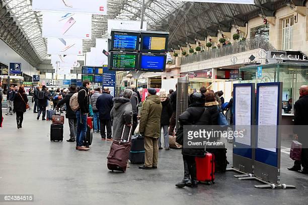 passengers at the Strasbourg, train station