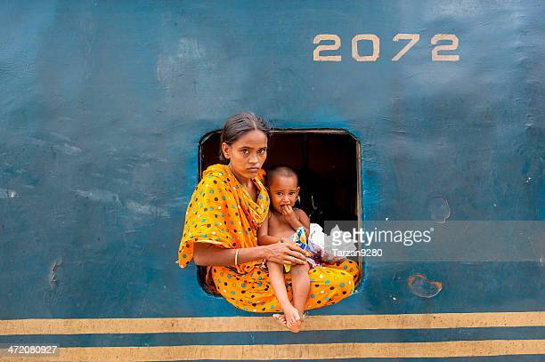 passengers at the window of train, bangladesh - bangladesh stock photos and pictures