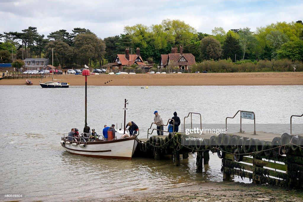 Ferry de passageiros embarque Felixstowe : Foto de stock