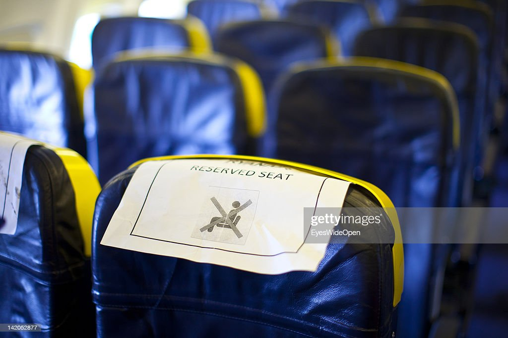 Passengers boarding for departure of a RyanAir flight with reserved seats at Allgaeu Airport on February 18, 2012 in Memmingen, Germany.